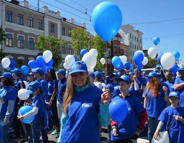 Хабаровские газовики представили газовую отрасль Дальнего Востока в праздничном шествии в честь 160-летия Хабаровска